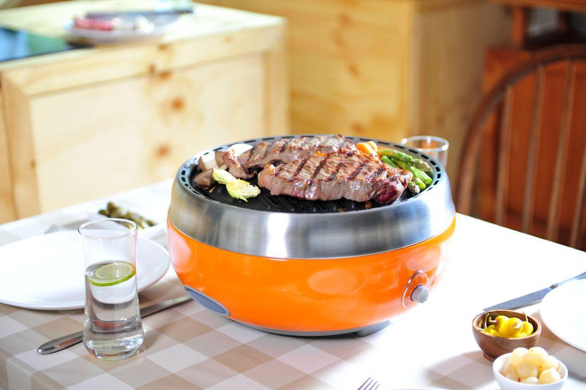 Churrasqueira Portátil a Carvão Get Grill (Com Grelha Antiaderente e Bolsa Para Transporte) Laranja GRD-11-LR