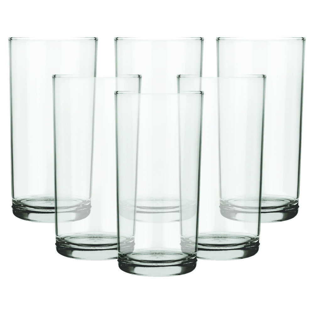 Conjunto de Copos de Vidro 6 Peças Long Drink 300 ml Nadir Figueiredo Cylinder 7700
