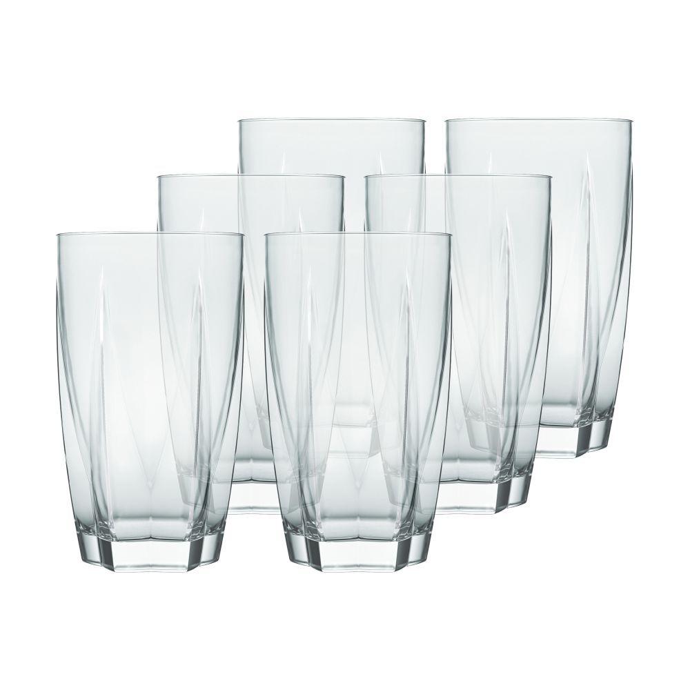 Conjunto de Copos de Vidro 6 Peças Long Drink 460 ml Nadir Figueiredo Estela 7661