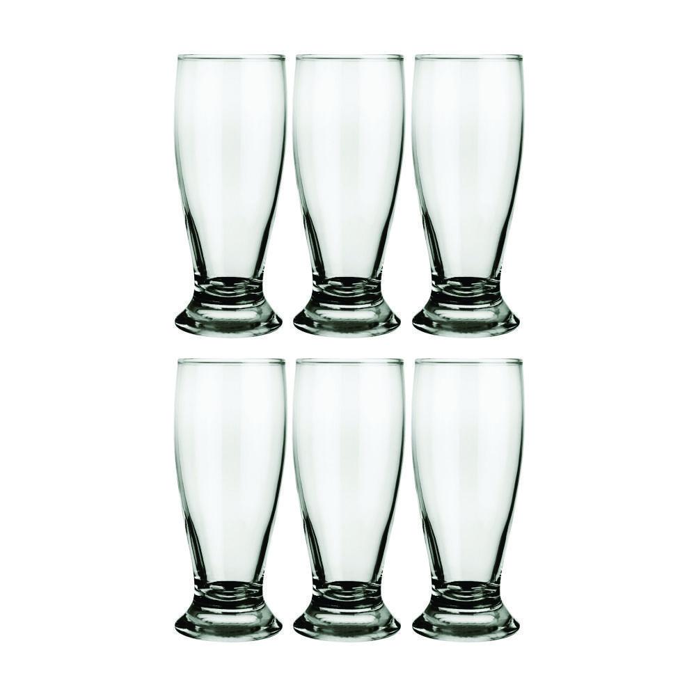Conjunto de Copos de Vidro Para Cerveja 6 Peças 300 ml Nadir Figueiredo Munich 7709