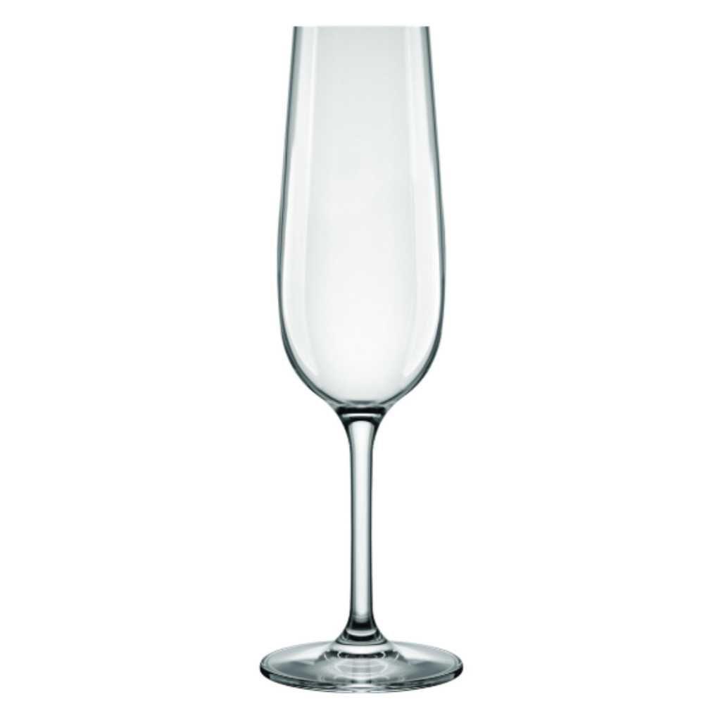 Conjunto de Taças de Cristal Para Champagne 6 Peças 200 ml Nadir Figueiredo Carpe Diem 7899