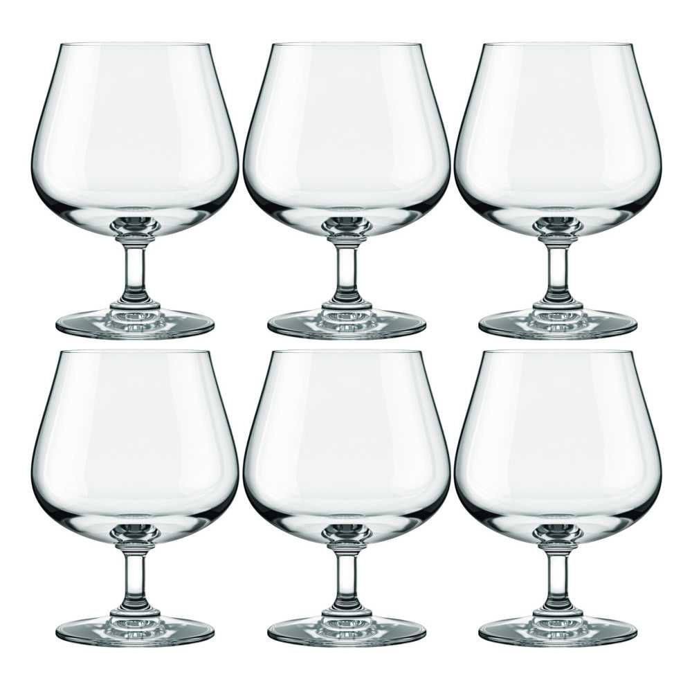Conjunto de Taças de Cristal Para Conhaque / Drink's 6 Peças 585 ml Nadir Figueiredo Excellence 7198