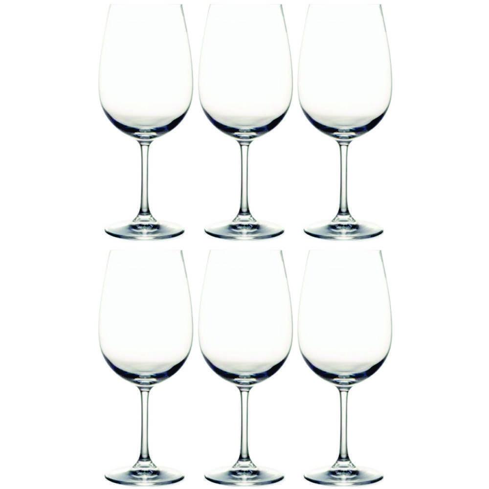 Conjunto de Taças de Cristal Para Vinho 6 Peças 450 ml Nadir Figueiredo Carpe Diem 7199