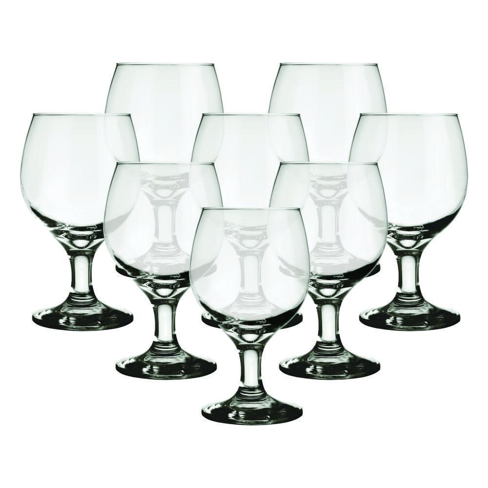 Conjunto de Taças de Vidro 8 Peças 320 ml Nadir Figueiredo Gallant 7708