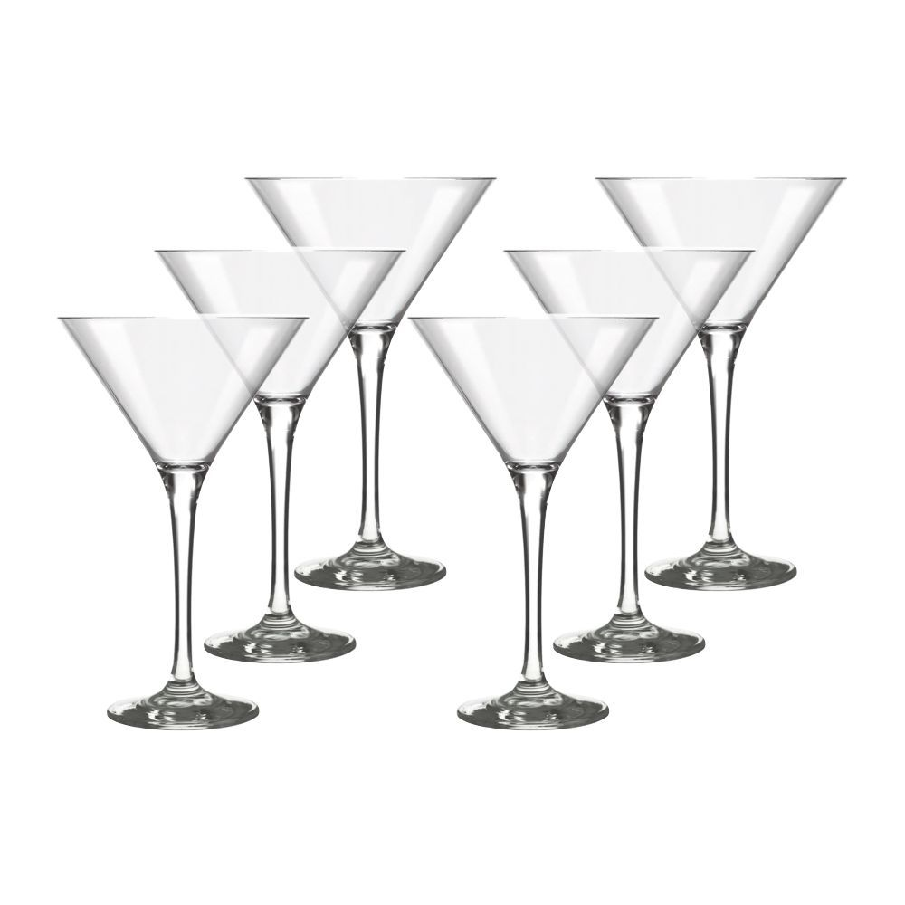 Conjunto de Taças de Vidro Martini Drink 6 Peças 250 ml Nadir Figueiredo 7228