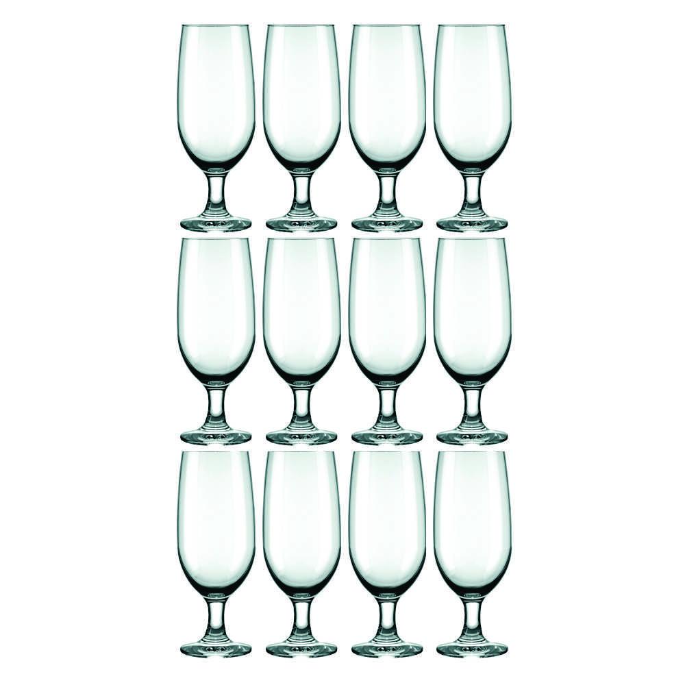 Conjunto de Taças de Vidro Para Cerveja 12 Peças 300 ml Nadir Figueiredo Floripa 7732