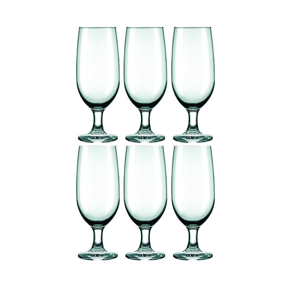 Conjunto de Taças de Vidro Para Cerveja 6 Peças 300 ml Nadir Figueiredo Floripa 7732