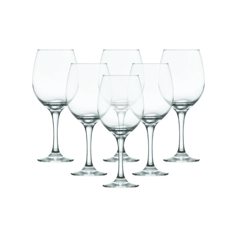 Conjunto de Taças de Vidro Para Vinho / Água 385 ml 6 Peças Nadir Figueiredo Barone 7156