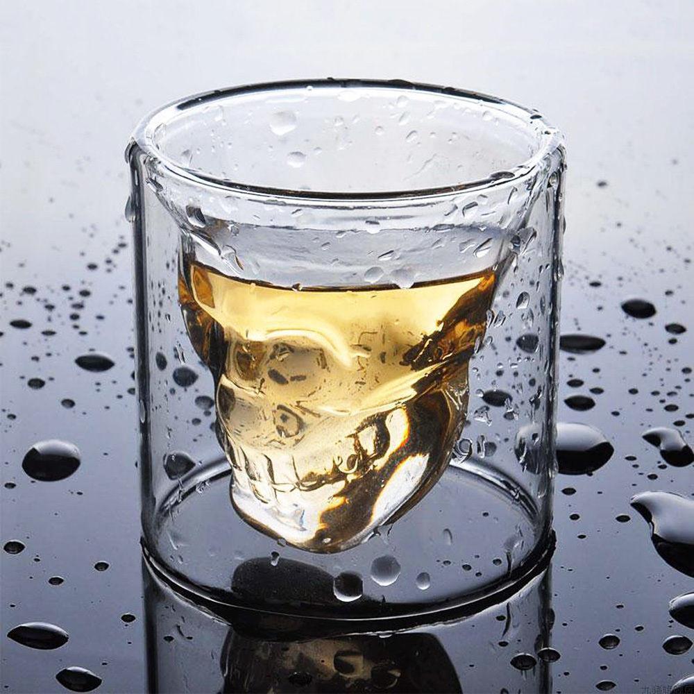Copo de Vidro Caveira Doomed Skull 75 ml - Wiski, Cerveja, Vodka