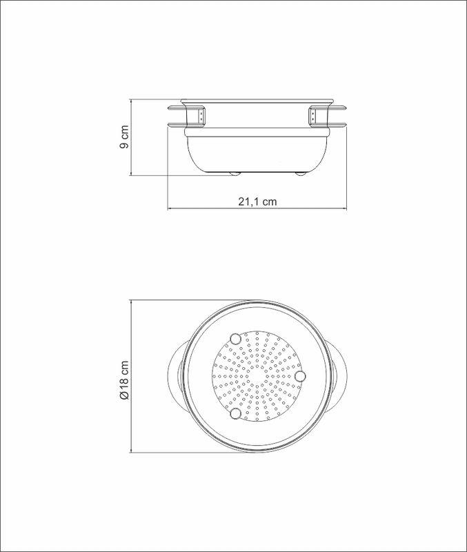 Cozi-Vapore em Aço Inox Com Alças 16 cm 1,6 Litros Tramontina Solar 62510/160