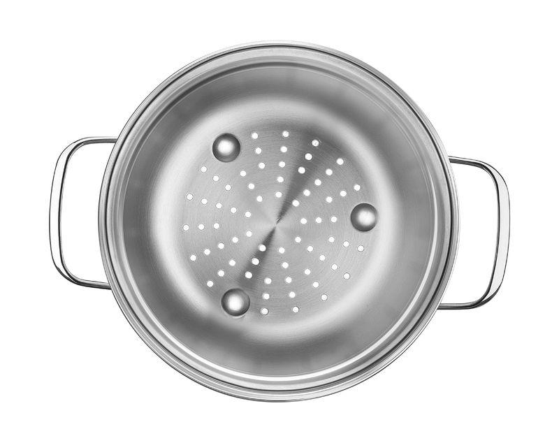 Cozi-Vapore em Aço Inox Com Alças 16 cm 1,7 Litros Tramontina Allegra 62660/161