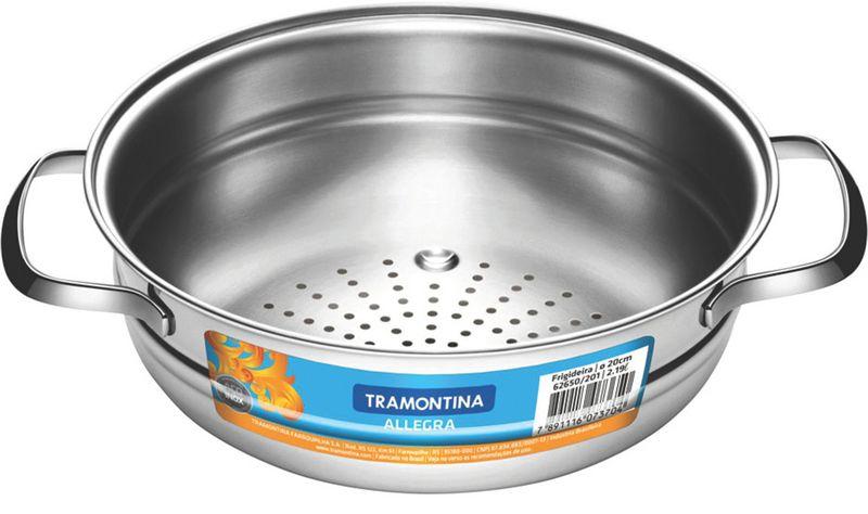 Cozi-Vapore em Aço Inox Com Alças 20 cm 2,2 Litros Tramontina Allegra 62660/201