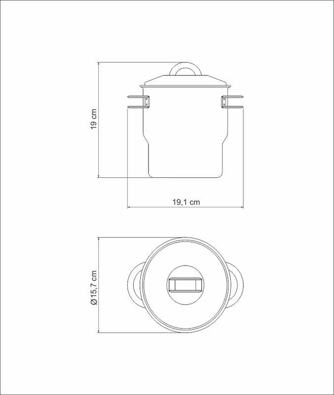 Cuscuzeira em Aço Inox 14 cm 2,2 Litros Tramontina Solar 62519/140