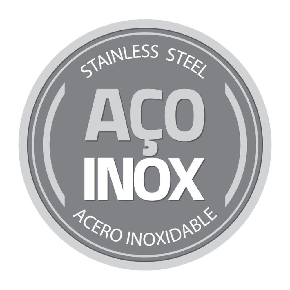 Escorredor de Loucas em ACO INOX com Bandeja Coletora Tramontina Plurale Amarela 61535/080