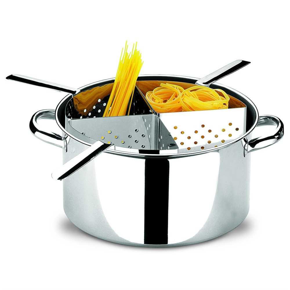 Espagueteira Brinox 4 Divisoes 10 Litros INOX Profissional com Cestos 1075/200