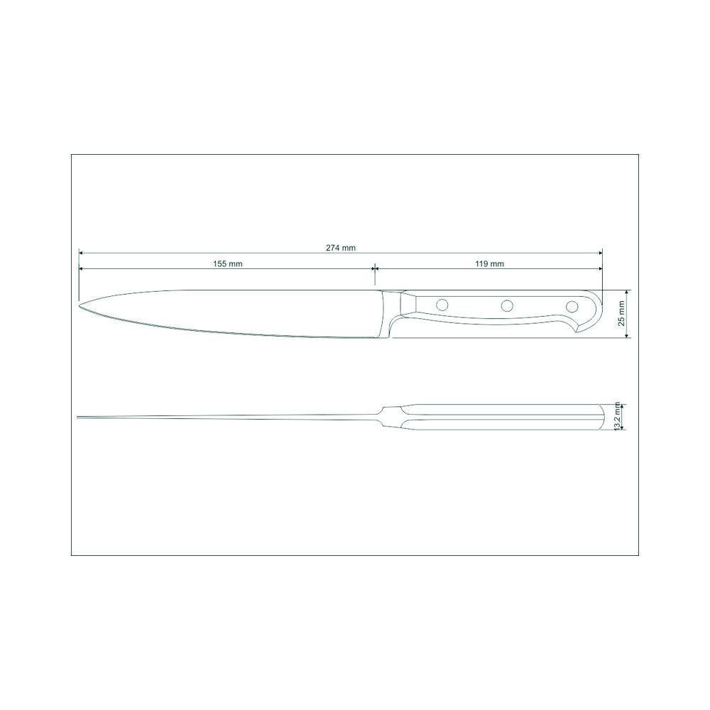 Faca de Cozinha Uso Geral Utility Aço Inox Tramontina Century 6 Polegadas 24010/106