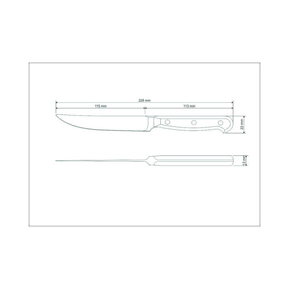 Faca Para Churrasco 5 Polegadas Aço Inox Tramontina Century 24021/105