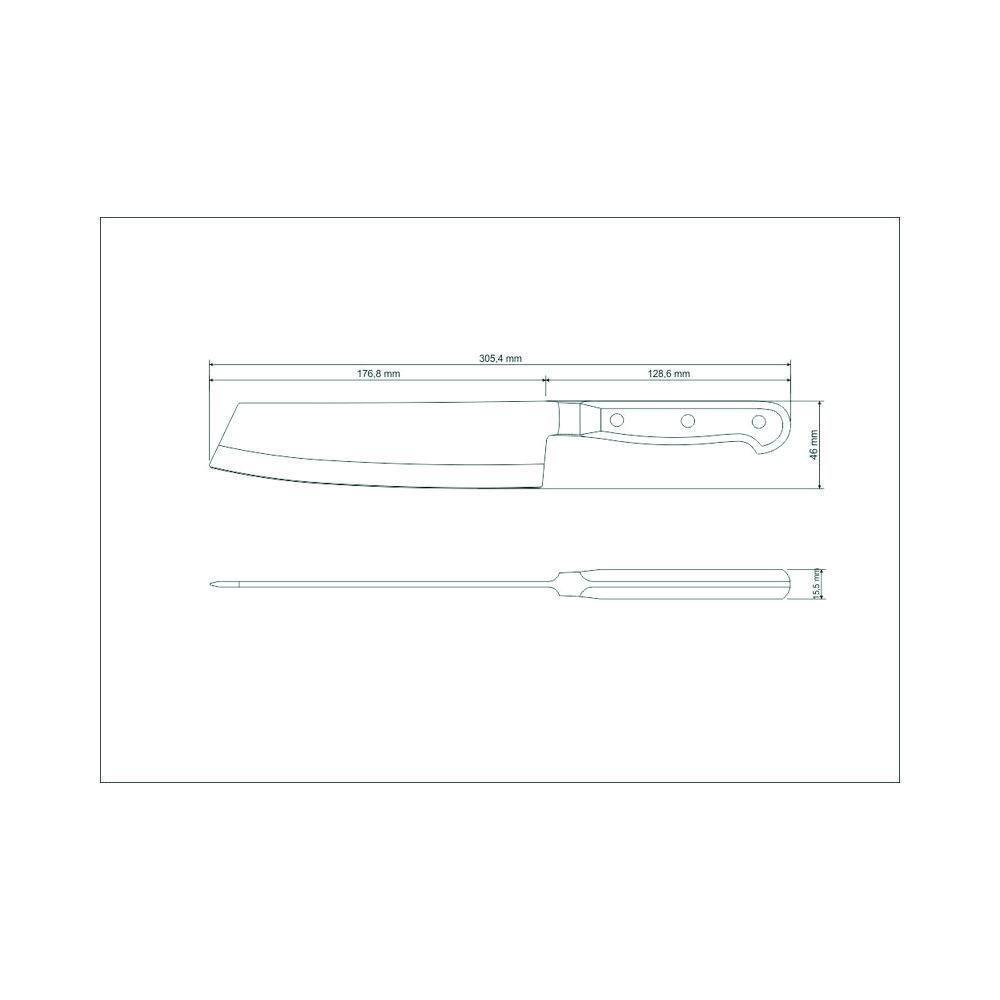 Faca Para Fatiar e Picar 7 Polegadas em Aço Inox Tramontina Century 24024/107