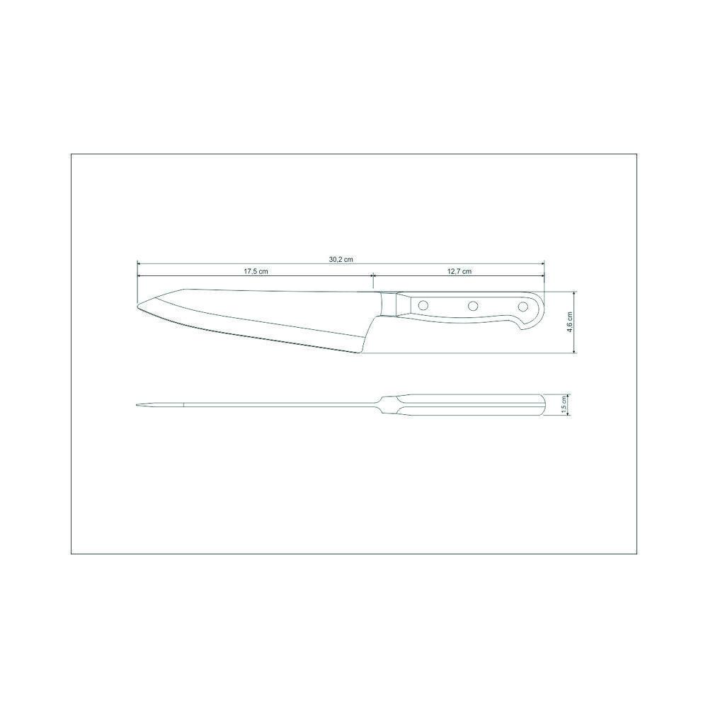 Faca Para Fatiar e Picar 7 Polegadas em Aço Inox Tramontina Century 24025/107