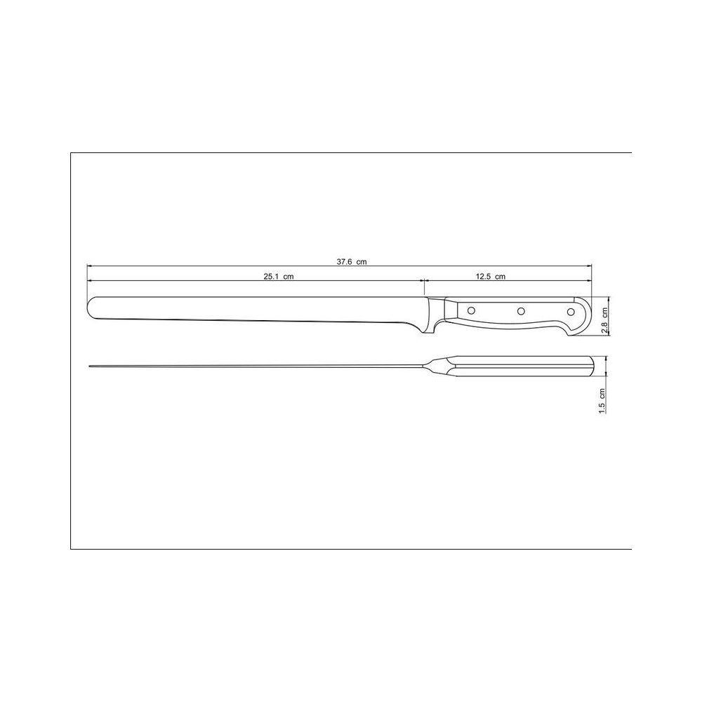 Faca Para Fiambres Aço Inox Tramontina Century 10 Polegadas 24013/110