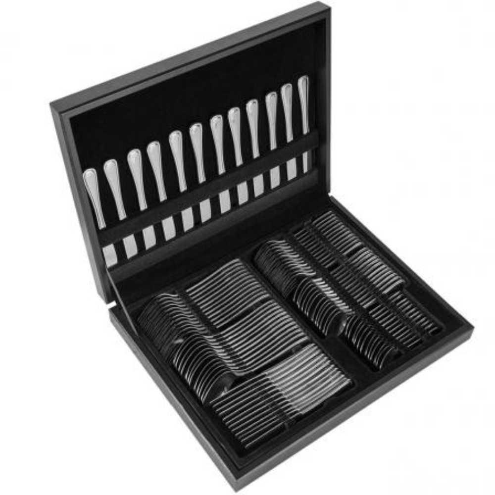 Faqueiro Aço Inox 84 Peças Com Estojo de Madeira Brinox Bulevar 5009/514