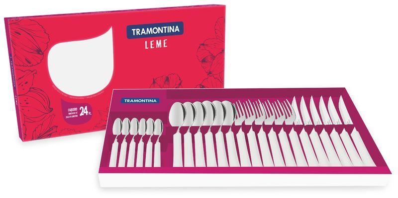 Faqueiro em Aço Inox Tramontina Leme 24 peças Branco 23198/830
