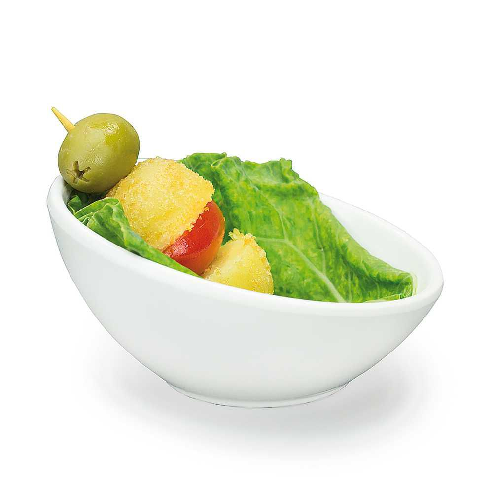 Finger Food Tigela Redonda Curva Branco Em Melamina 100% Profissional Gourmet Mix GX5353
