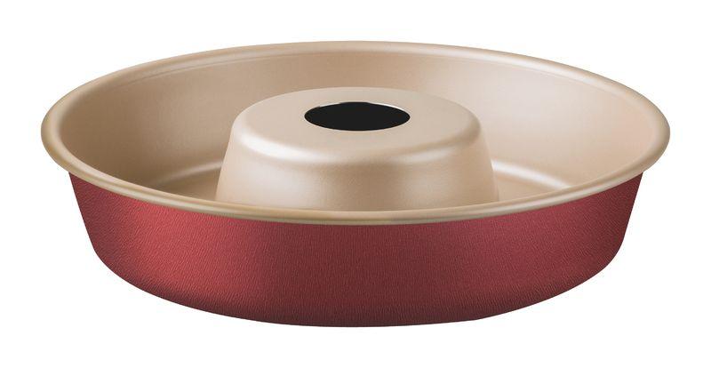 Forma com Cone Removivel de Aluminio Antiaderente Tramontina Brasil 26 CM Vermelha 20067/726