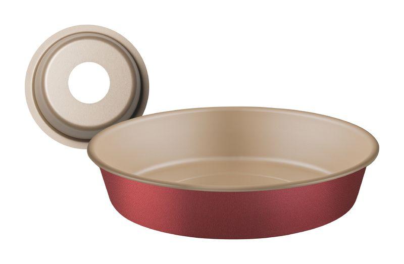Forma Com Cone Removível de Alumínio Antiaderente Tramontina Brasil 26 cm Vermelha 20067/726