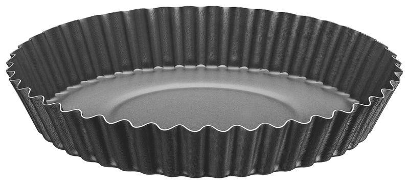 Forma Funda de Alumínio Antiaderente Para Bolos e Tortas Tramontina Brasil 22 cm Grafite 20056/022
