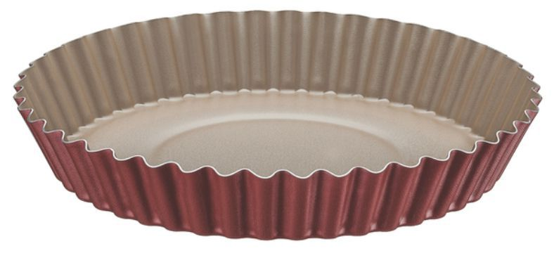 Forma Funda de Alumínio Antiaderente Para Bolos e Tortas Tramontina Brasil 26 cm Vermelha 20056/726