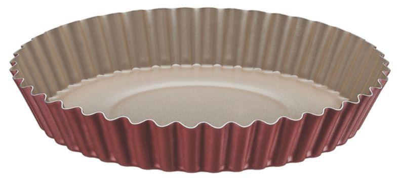 Forma Funda de Alumínio Antiaderente Para Bolos e Tortas Tramontina Brasil 24 cm Vermelha 20056/724