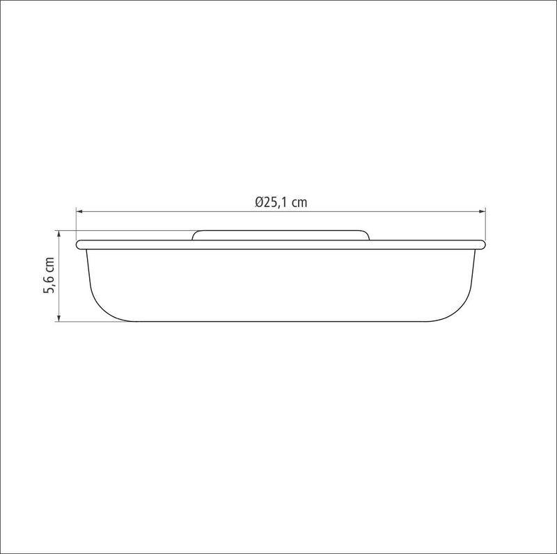 Forma para Bolo em Aluminio Antiaderente Tramontina Brasil 24 CM Grafite 20060/024