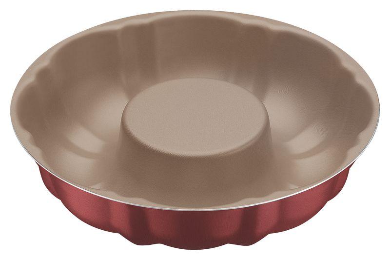 Forma Para Bolo em Alumínio Antiaderente Tramontina Brasil 24 cm Vermelha 20074/724