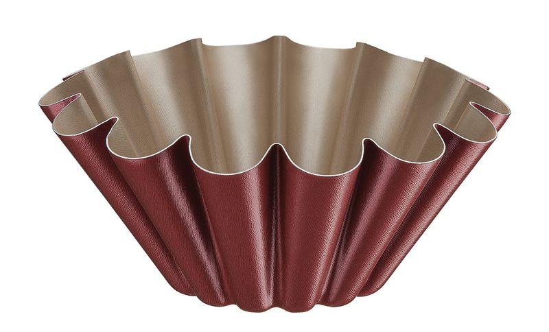Forma Para Brioche em Alumínio Antiaderente Tramontina Brasil 22 cm Vermelha 20065/722