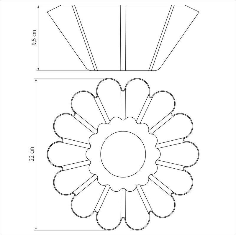 Forma para Brioche em Aluminio Antiaderente Tramontina Brasil 22 CM Vermelha 20065/722