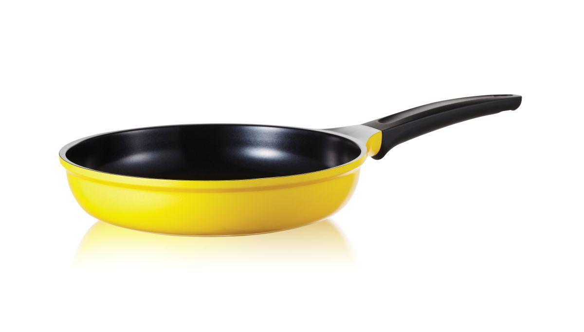 Frigideira Antiaderente Com Revestimento Cerâmico Roichen Natural Frying Pan 26 cm 2,40 Litros Amarela RNC-26F/YB