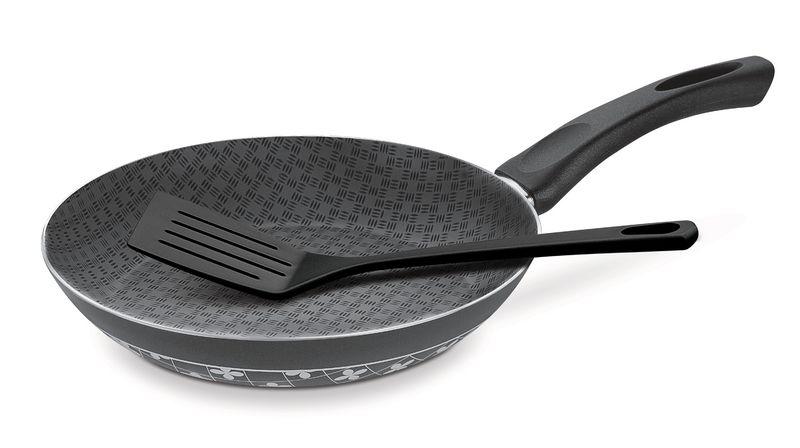 Frigideira Estampada em Alumínio Antiaderente Com Espátula de Nylon Tramontina Viva Cor 24 cm Oncinha 20156/424