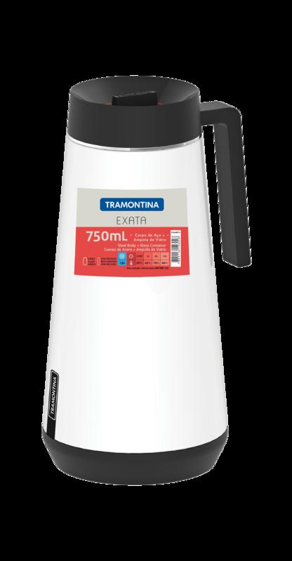 Garrafa Termica em ACO INOX com Infusor Tramontina Exata 750 ML Branco 61644/074