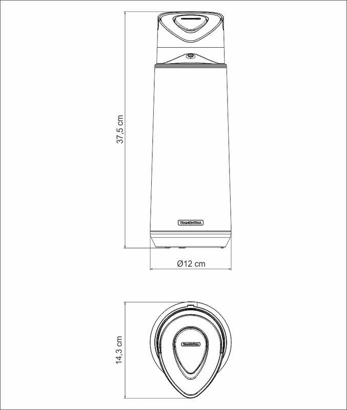 Garrafa Térmica em Aço Inox Tramontina Exata 2 Litros 61642/200