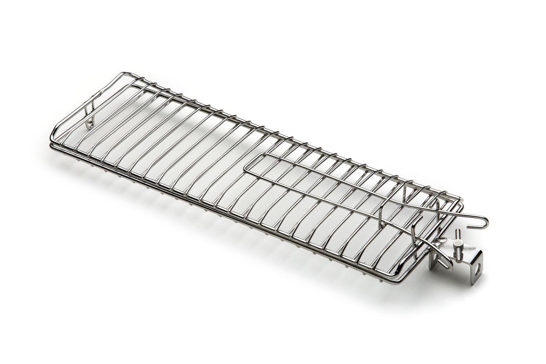 Grelha Plana Para Peixe, Frango, Pão de Alho Aço Inox 35 X 12 cm Para Espeto Giratório Rotary Speto Sorocaba