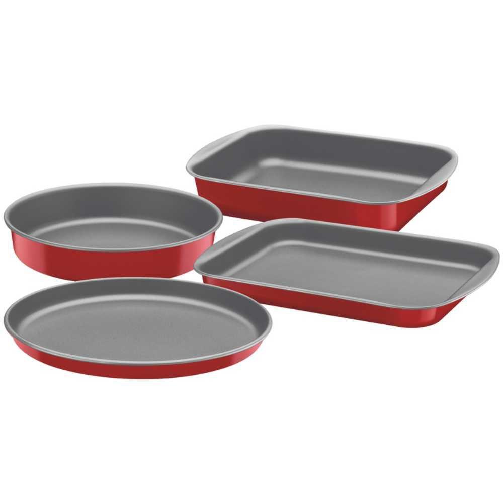 Jogo de Assadeiras 4 Peças Alumínio Antiaderente Tramontina Brasil 24, 28 e 30 cm Vermelha 20099/773