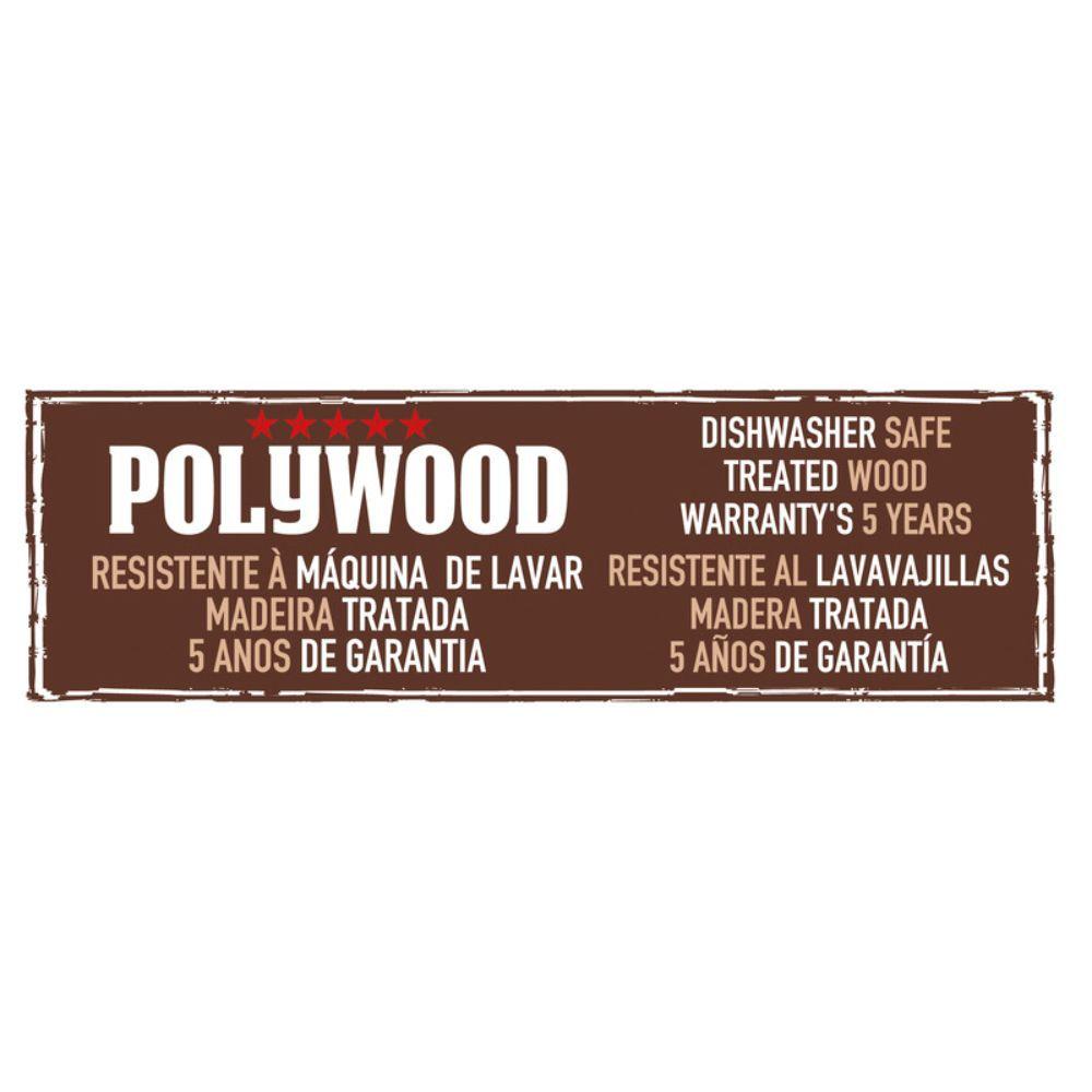 Jogo de Facas Com Suporte de Madeira 6 Peças Tramontina Polywood Vermelho 21199/783