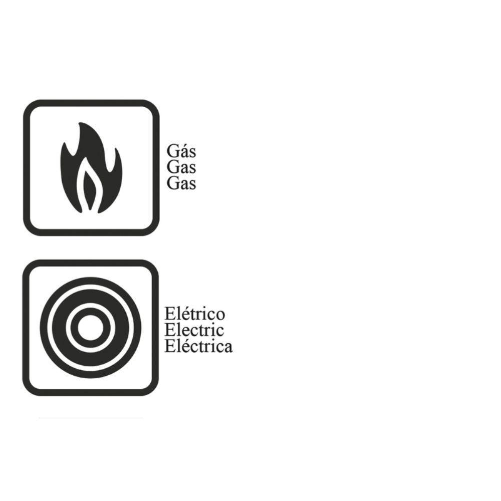 Jogo de Frigideiras em Aluminio Antiaderente 3 Pecas Tramontina Paris 18 e 22 CM Vermelha 2019738