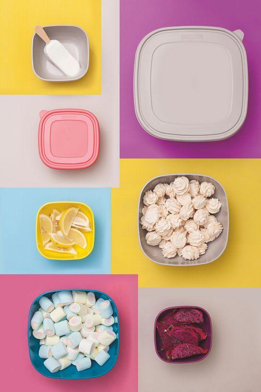 Jogo de Potes Bowls 4 Litros 2 Peças Tramontina Mix Color 25099/949