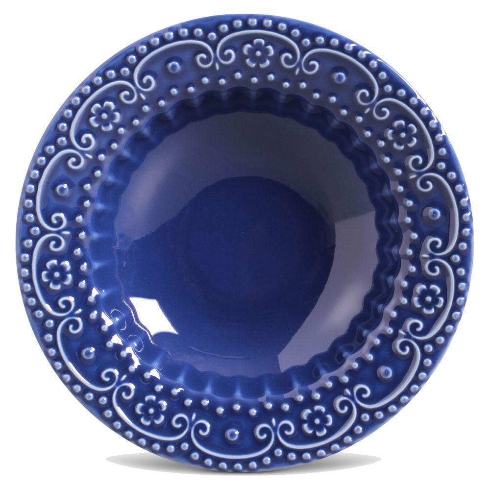 Jogo de Pratos Fundo Porto Brasil Esparta 6 Peças Azul Navy 323583