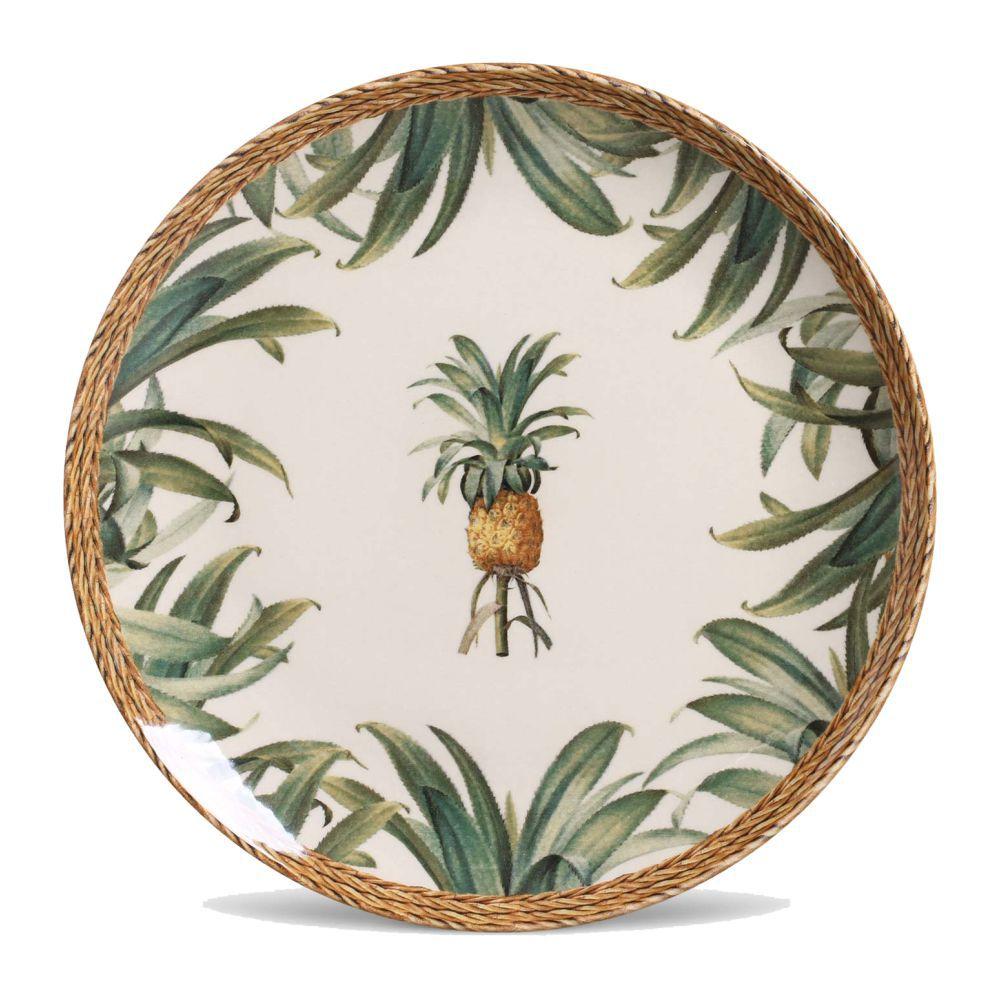 Jogo de Pratos Raso Porto Brasil Pineapple Natural 6 Peças 542092