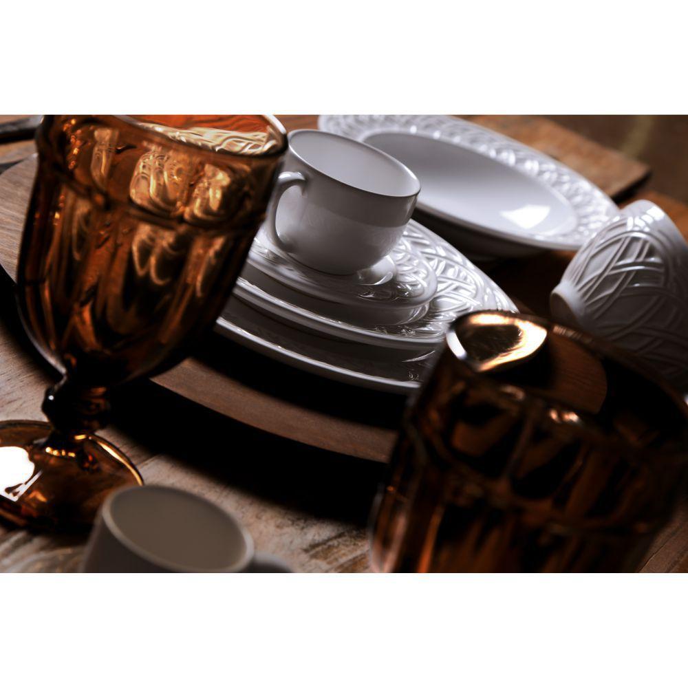 Jogo de Xícaras de Chá 161 ml Porto Brasil Cestino 6 Peças Branco 3626101
