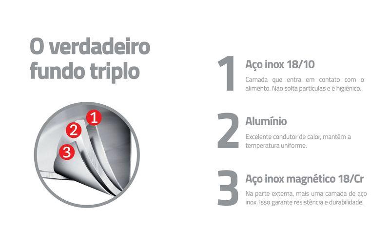Kit Grelhar Tramontina 2 Peças Frigideira Revestimento Cerâmico em Aço Inox e Espátula 65360/324
