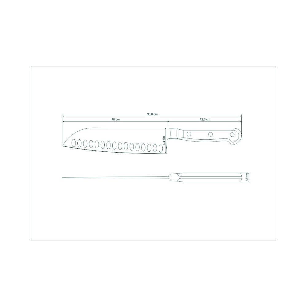 "Kit Masterchef - Faca Santoku 7"" Tramontina Century + Tábua 32 X 16 Tramontina Delicate"